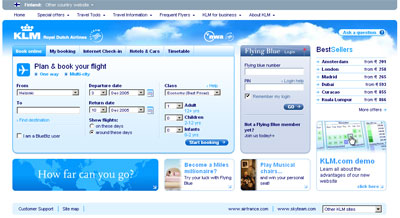 klm screenshot